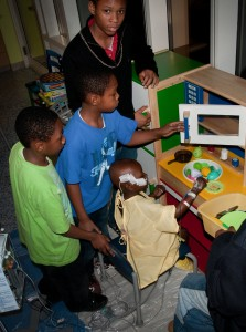 Knyson CHKD sleepover slumber party with his brothers- Toby's Dream Foundation