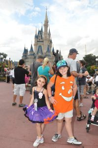 Anastacia curtsying at Disney World- Toby's Dream Foundation