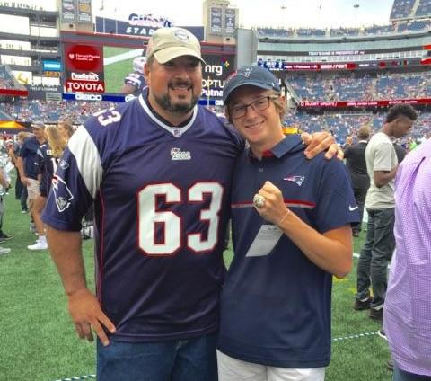 Colin meets the New England Patriots