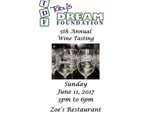Toby's Dream 5th Annual Wine Tasting